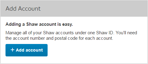 Add Account Section