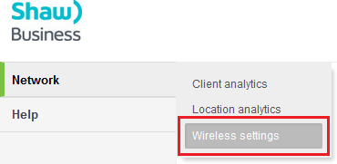 Network wireless settings (click to enlarge)