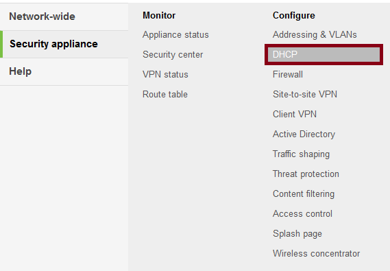 SmartSecurity DHCP (click to enlarge)