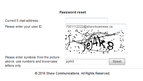 Password reset (click to enlarge)