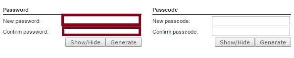 Change user portal password (click to enlarge)