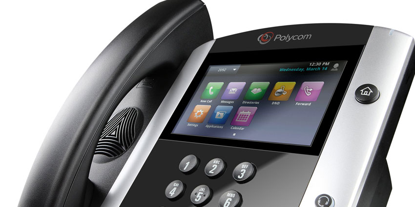 Polycom touchscreen